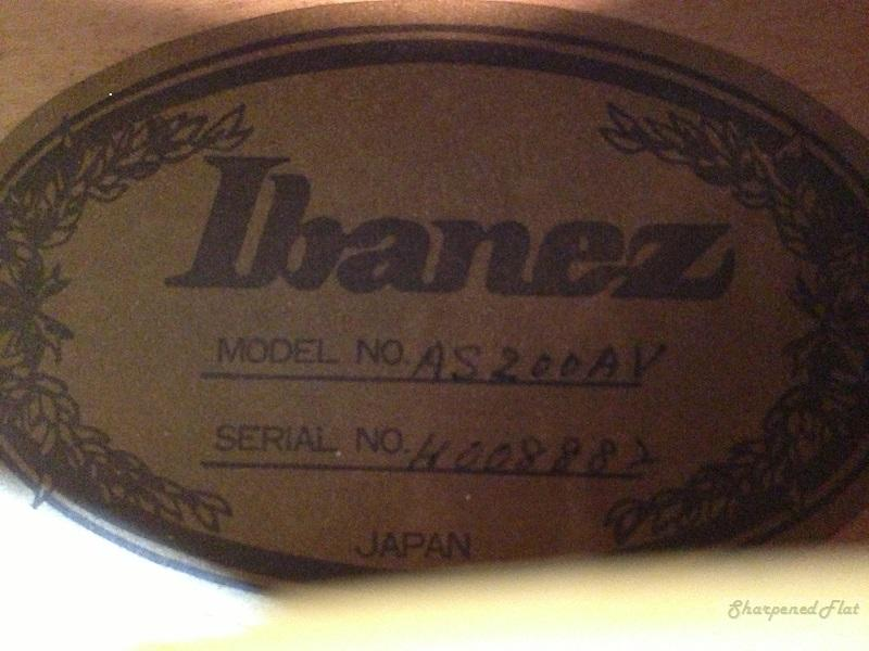 Ibanez AS-200 Ibanez-AS-200-label
